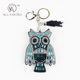 Cute Owl Keychain Custom Key Chain Ring Keyring Accessories