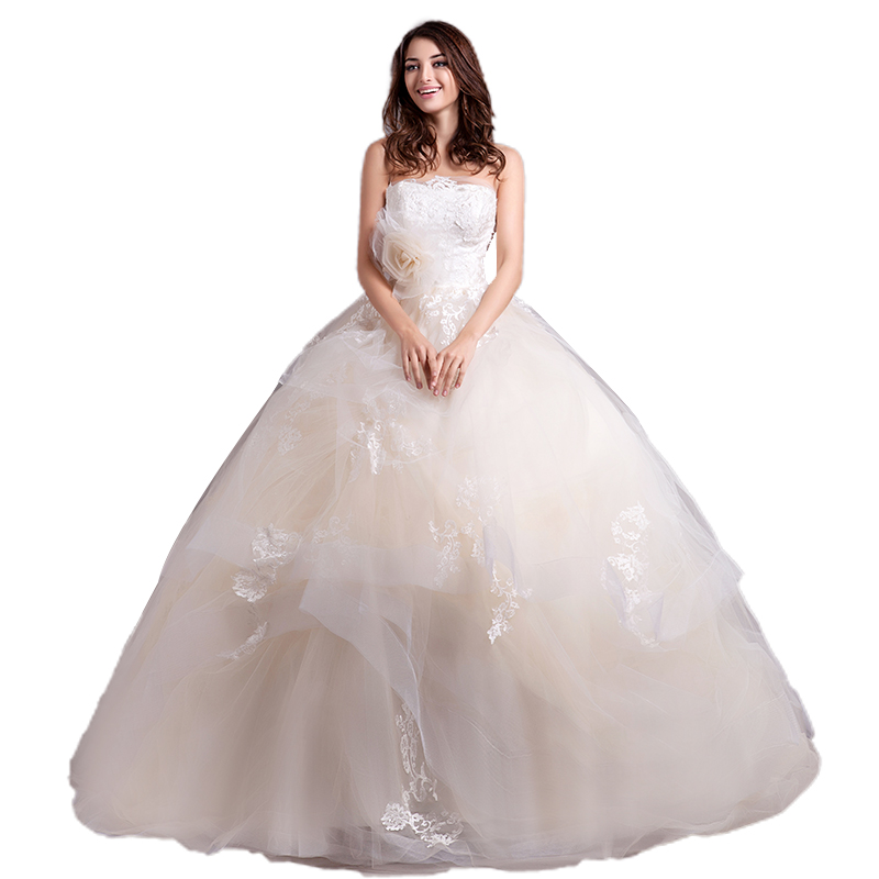 Alibaba Wholesale Wedding Dress Bridal Gown Import Guangzhou Light Champagne Ball Gowns Wedding Dresses 2018 фото