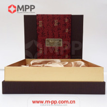 Custom Luxury Marriott Hotel Paper Box Packaging For Wine Food Gift With Foam Inserts And Satin Lining