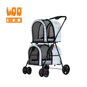 Best selling products stroller twin pet stroller trolley 4 wheel dog strollers