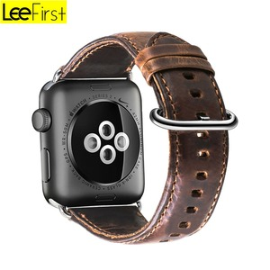 New Arrival Leefirst Genuine Leather Premium For Apple Watch Bands 38 mm 42 mm Vintage Style