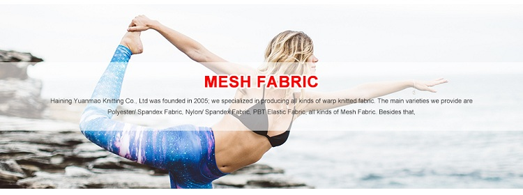 Factory Directly Provide 90 Polyester 10 Spandex Blend Fabric Stretch Mesh Composition