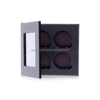 China Cosmetic Box Window Nine-Circle Paper Eye Shadow Palette Box