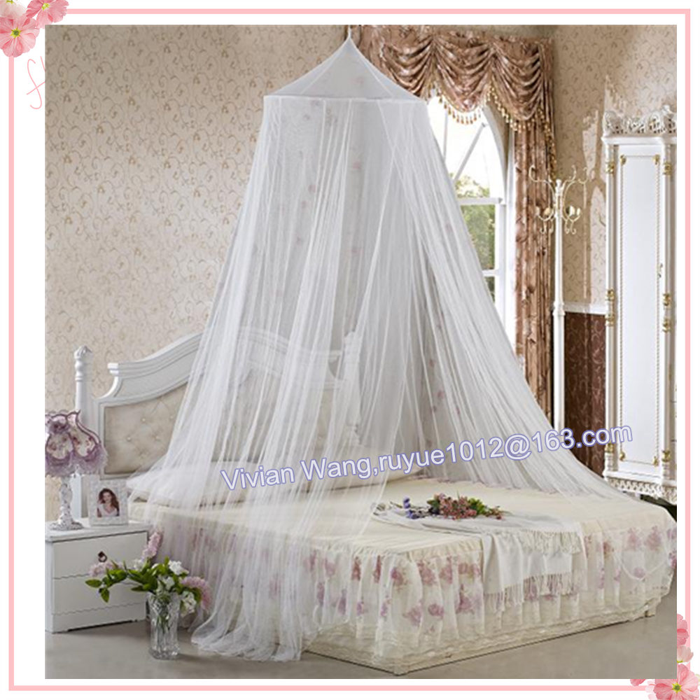 Without Door 100% Polyester Jacquard Conical Mosquito Nets