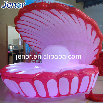 Led Lighting Inflatable Pearl Shell For Stage Decor