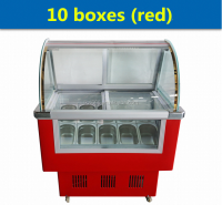 Italian ice cream display freezer/mini ice cream display case/small ice cream freezer