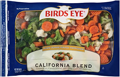 Birds Eye Fresh Frozen Deluxe Mixed Vegetables, California Blend, Broccoli, Cauliflower and Carrots, 60 ounce bag