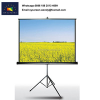 Guangzhou Factory supply best price tripod projector screen on sale