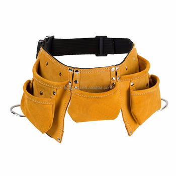 Leather Kids Tool Belt / Child's Tool Pouch Tool Bag for Costumes Dress Up Role Play