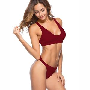 2018 Hot Sale indian Girls Sexy Photo Beachwear two piece Women brazilian Swimwear bikini