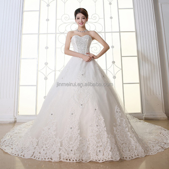 Luxury Crystal Plus Size Ball Gown Wedding Dresses 2016 sexy sweetheart Long Train wedding dresses for bride with sleeves