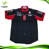 Promotioanl racing suit/racing shirt designs for embroidered