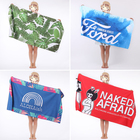Printed Towel Microfiber Towels Custom Printed Logo Microfiber Towel Super Absorbent Dry Fast Soft Lightweight Sand Free Beach Towel
