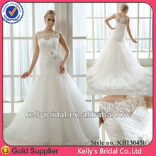 popular high collar curve neckline satin with tulle turkish wedding dresses with detachable belt