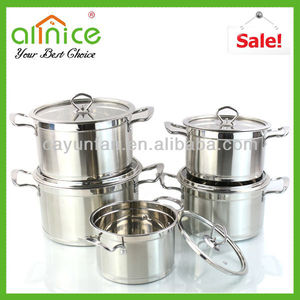 Good helper of kitchen cook pot with lid/induction pot set/steel casserole set