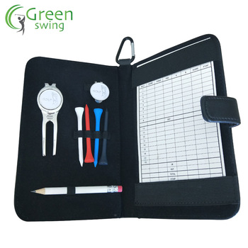 Promotional Golf Score Card Holder Tool Bag Set Golf Note Pad