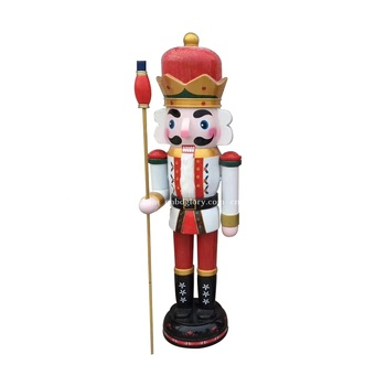 Christmas decor products Hand Carved fiberglass nutcracker soldier sculpture