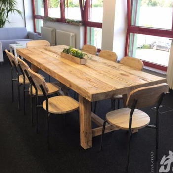 2018 Whole Furniture China Reclaimed Wood Rustic Dining Table Outdoor Wooden