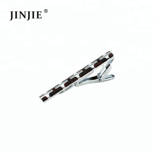 ETC001 2 Colors Red Black Enamel Fancy Tie Clip For Men