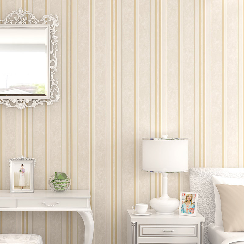 Mediterr neo azul rayas verticales no tejido del papel - Dormitorios pintados a rayas ...
