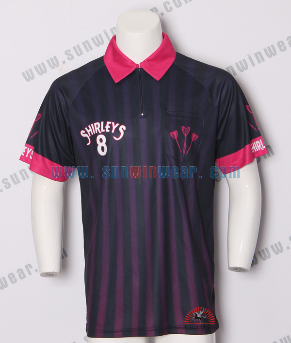 Men's hot sale sublimation darts custom made polo shirts