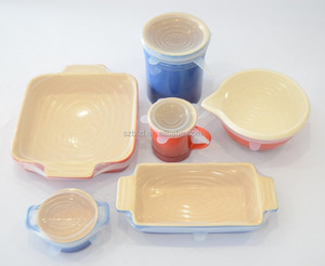 Various Sizes Silicone Suction Lids and stretch silicone food covers,silicone pot cover lid