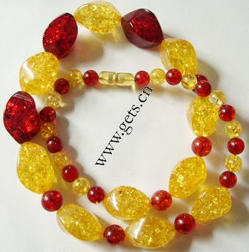 nuggets amber necklace