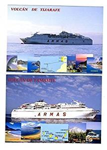 F/B Volcan De Tijarafe & Volcan De Tamasite Postcards Naviera Armas Ferries