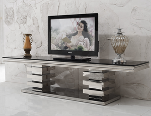 E414 Xinqing Modern Living Room Stainless Steel TV Stand
