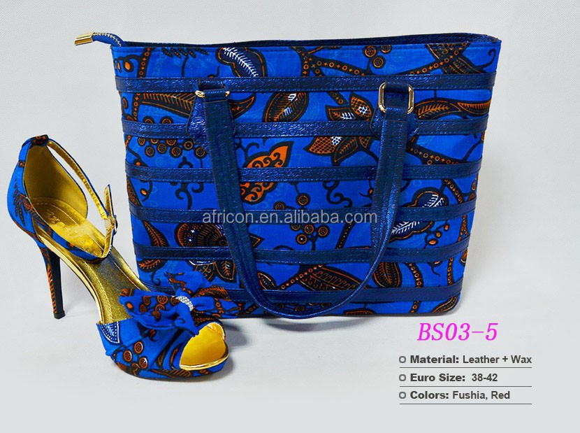 wax african and print good shoes quality handbag match shoes african to xgOqw0