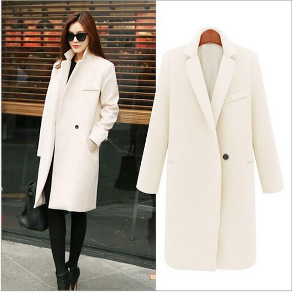 2015 new fashion womens wool blazer long cashmere coat. Black Bedroom Furniture Sets. Home Design Ideas