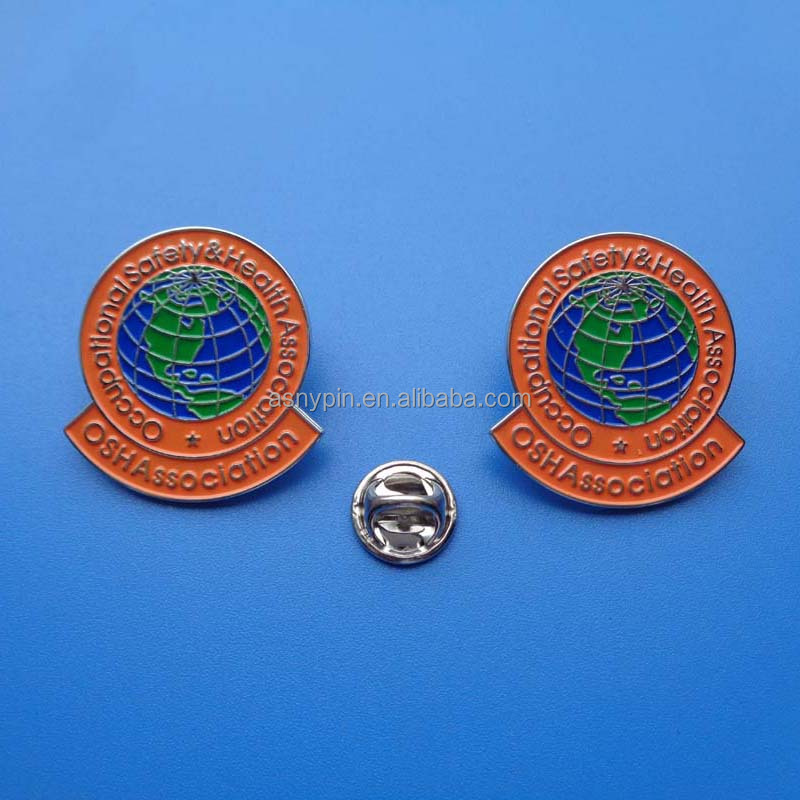 Occupational Safety Health Association OSH Association Embossed logo metal lapel pin badge brooch