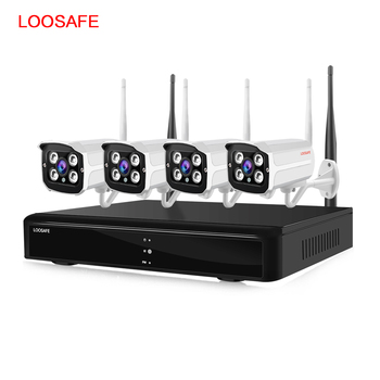 4 ch 960p 1080p ip66 outdoor network video security surveillance ip camera kit wireless wifi cctv camera system