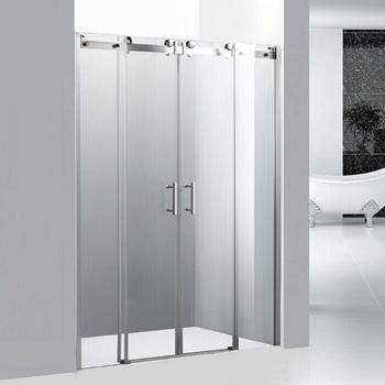 Extension 8mm Tempered Gl Modern Bathroom 3 Panel Shower Door Sliding Closer Hanging Product On