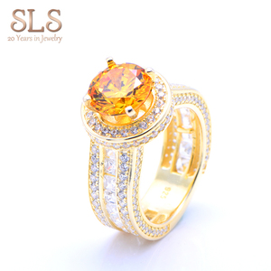 SLS Jewelry wholesale 925 sterling silver ring main cz stone engagement ring