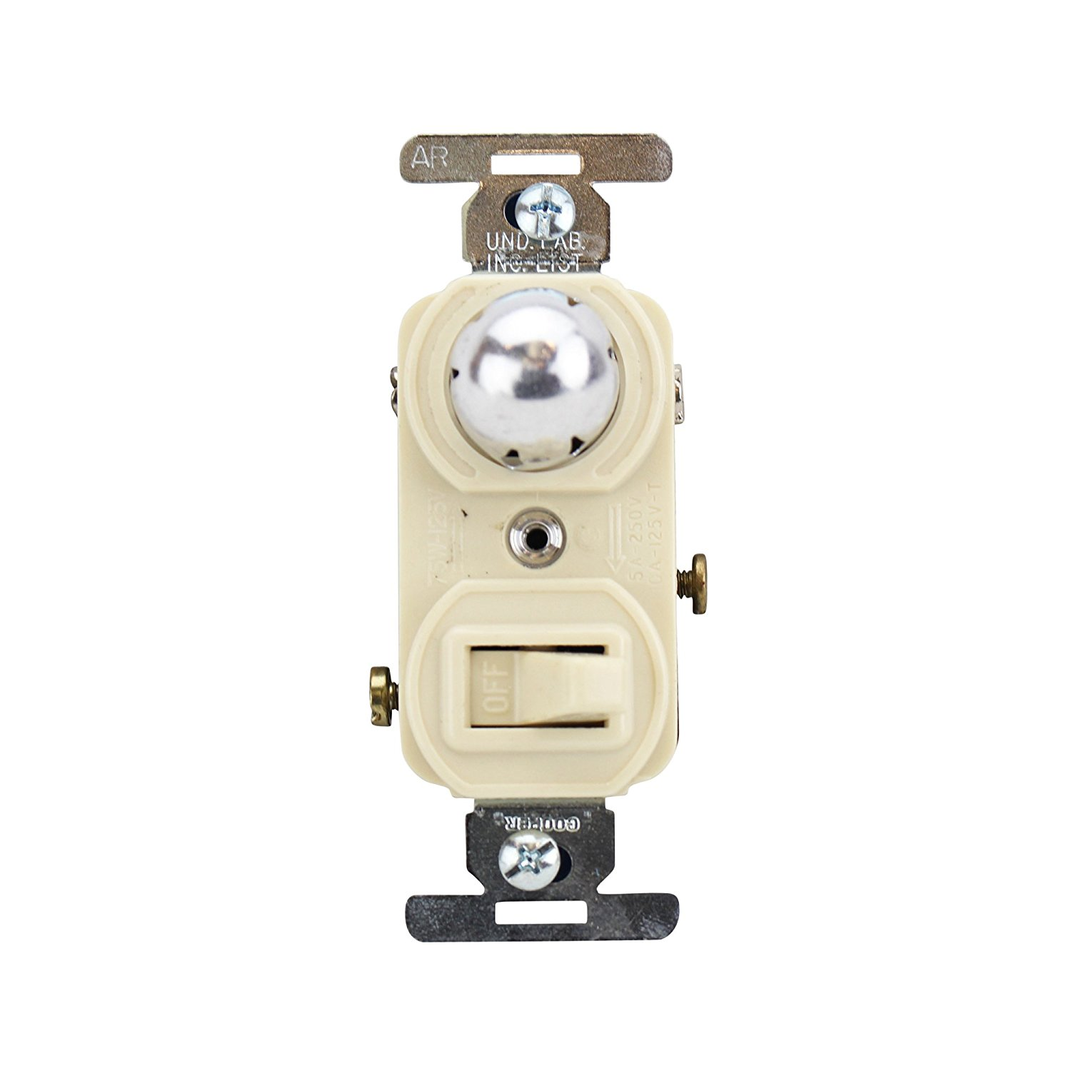 Cheap Wiring Single Pole Switch Find Ivory Toggle Get Quotations Cooper 799v Box And Pilot Light
