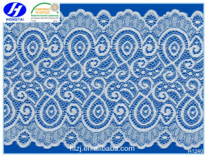 Changle sell bulk fashion design beautiful trustwin lace fabric for garments