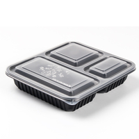 factory wholesale 3 compartment food container
