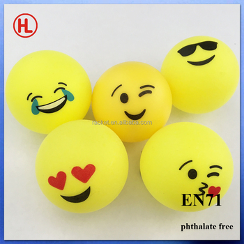 Emoji Emoticon Beer Pong Balls Cheap Color Custom Logo Ping Pong