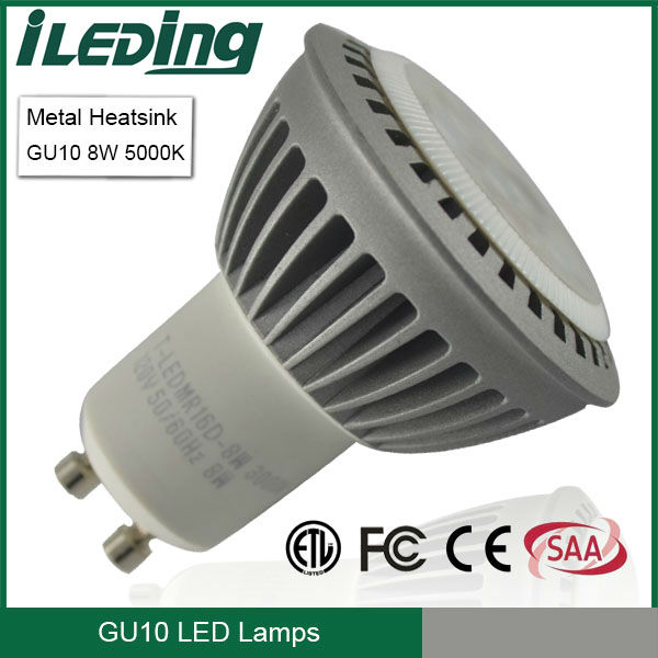 50w Equivalent Led Downlight Gu10 Led 8w 550lm 5000k