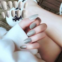 24 шт./компл., накладные ногти с милой коробкой, Короткие каваи, накладные ногти, искусственные губки с клеем, стикер(Китай)