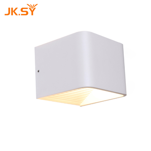 Modern Led Wall Lamp 6W Aluminum Square Wall Light For Bedroom Living Room White Wall Lighting (Warm White)