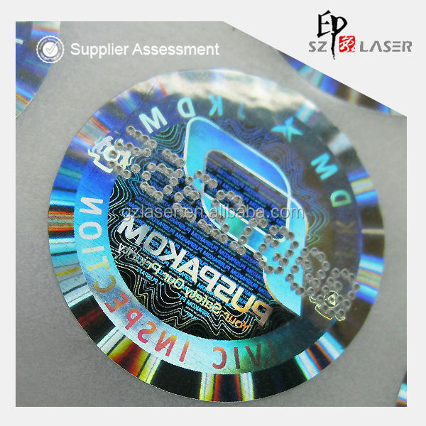 High secure hot selling laser printed hologram tamper proof date code stickers