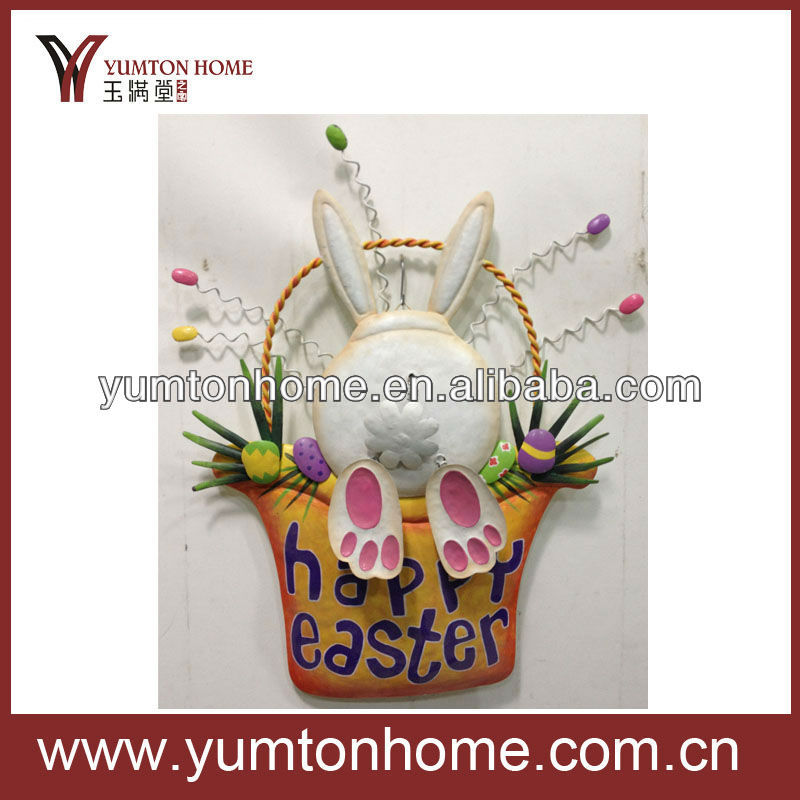 happy easter rabbit wall decoration