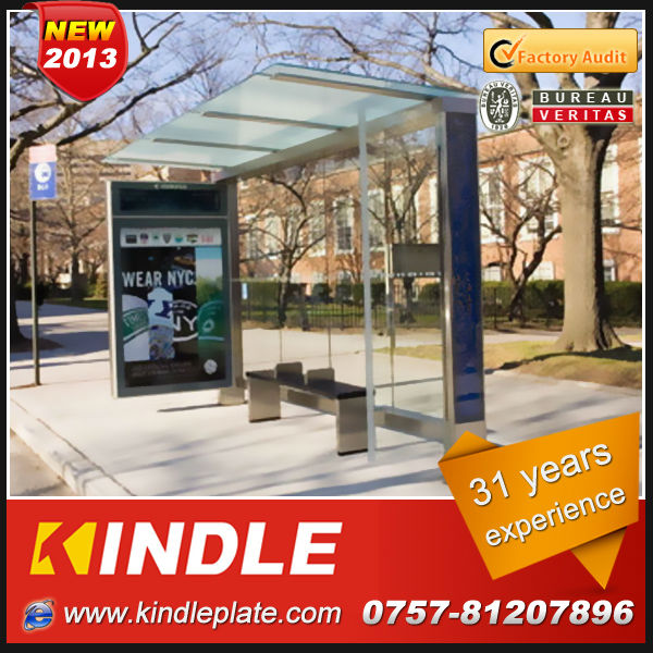 high quality hot sale solar bus stop station