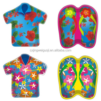 disposable custom printed summer beach ball pool party t shirt flip