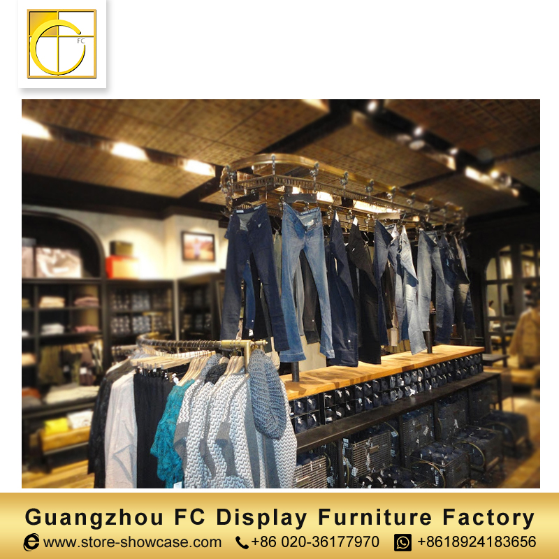 fashion style jeans display rack clothing store furniture garment shop interior design