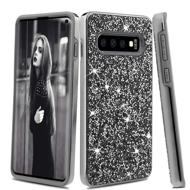 S10 Mobile Phone Case <strong>Cover</strong> , For Samsung Galaxy S10 Bling Bling Diamond Phone Case