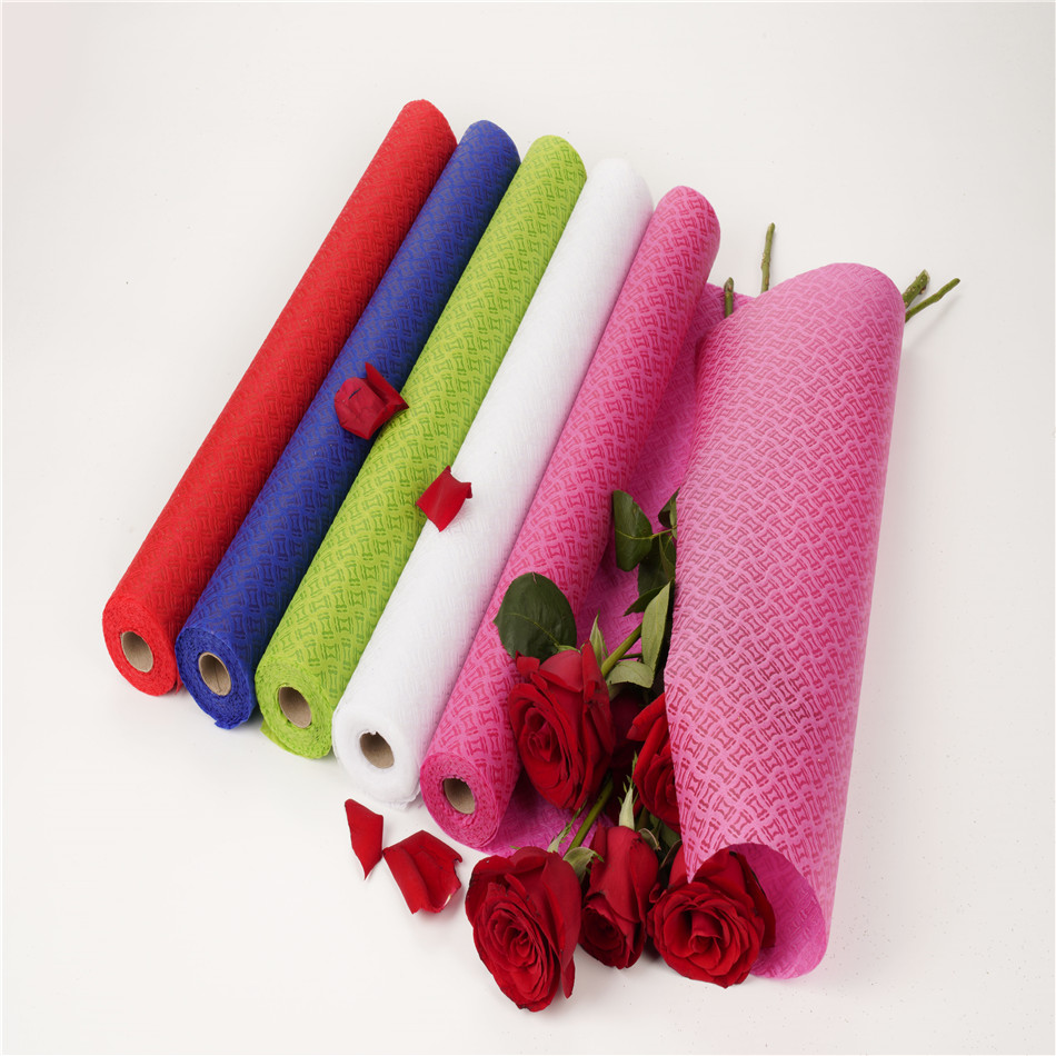 Factory direct sales hourglass printing non-woven drum packaging for flowers packaging gifts packaging