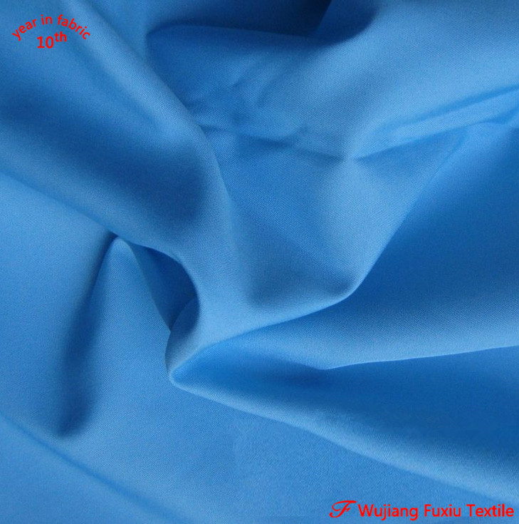 wholesale cheap waterproof 240T poly pongee fabric from wujiang